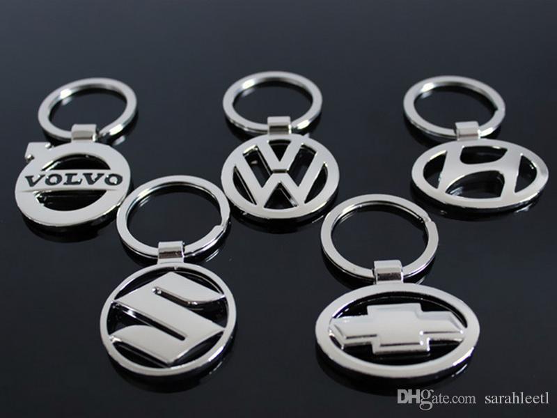 Nuova novità regalo 3D in lega di zinco Hollowed Car Logo portachiavi portachiavi - quasi 50 Car Logo