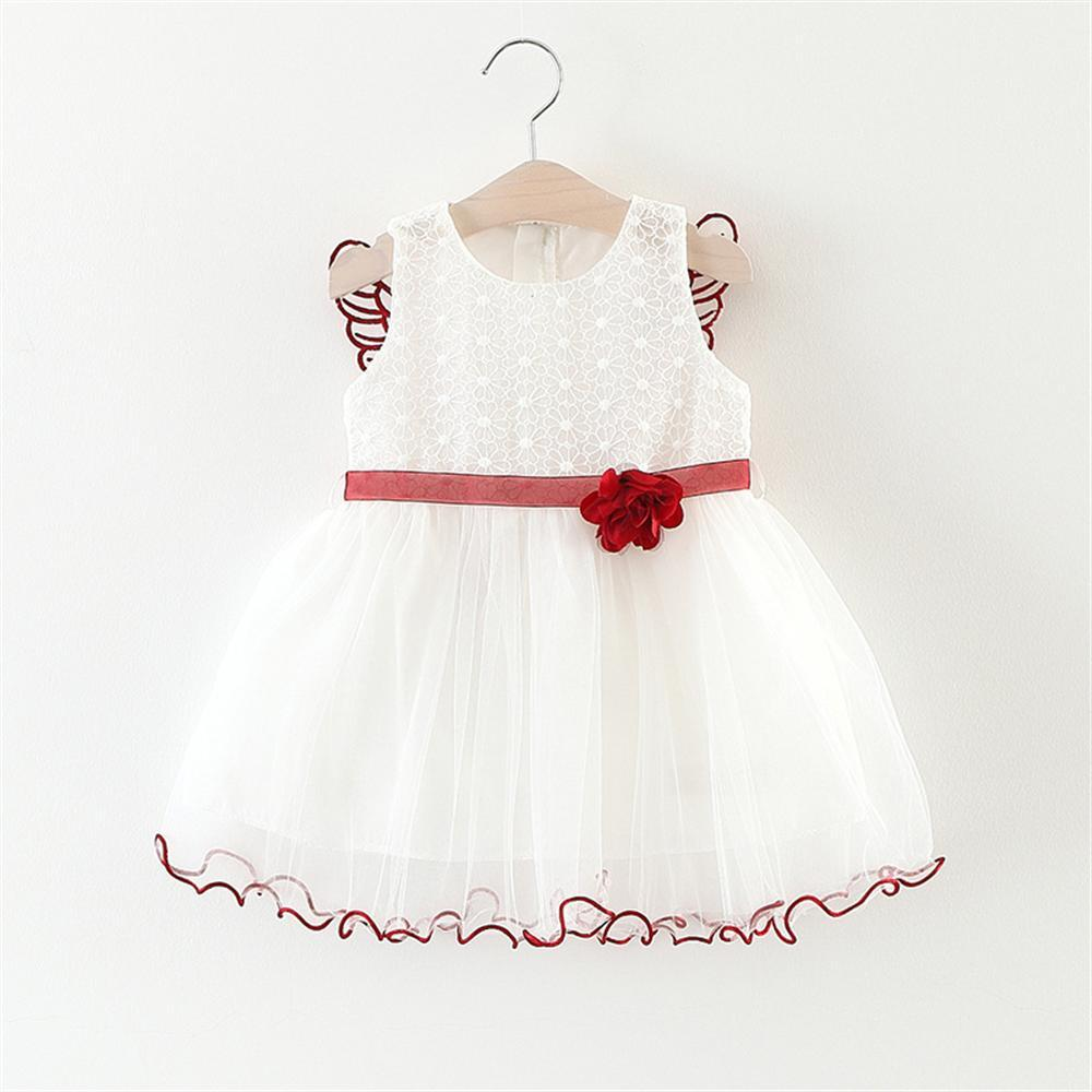 616c57362 2019 Kids Baby Girls Beautiful Flower Dress Princess Summer ...