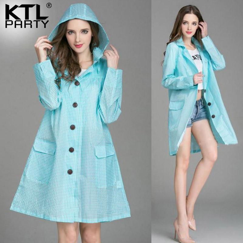 dbcec25f8c1 2019 KTLPARTY Womens Fashion Raincoats Female Outdoor Travel Rainwear Lady  Waterproof Sunscreen Walking Poncho Wind Breaker From Fair2015