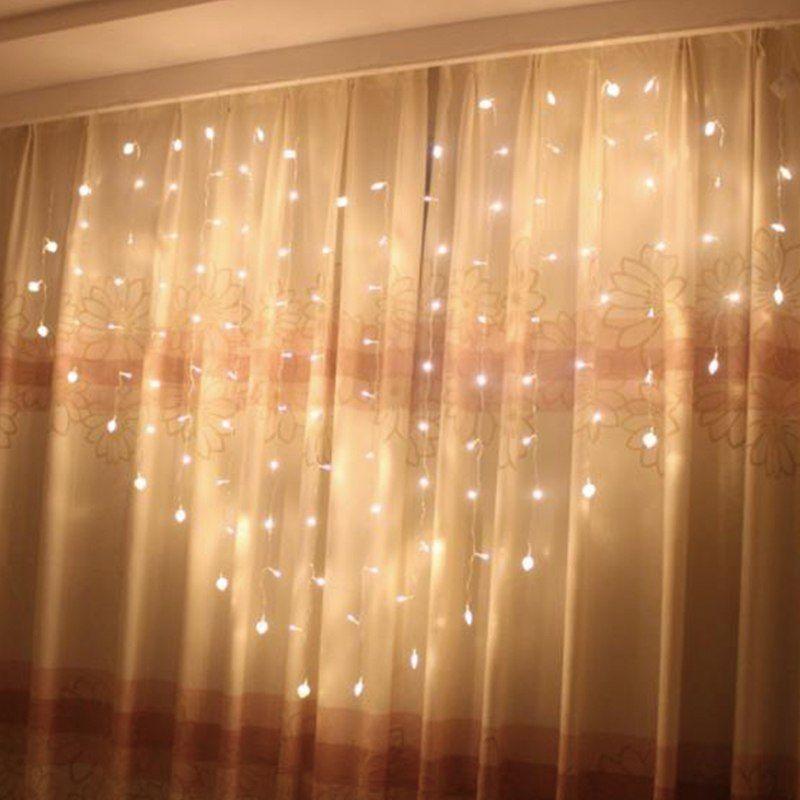 Acheter Rideau De Fées En Forme De Coeur LED Lumière 2 * * 1,5 M 124 ...