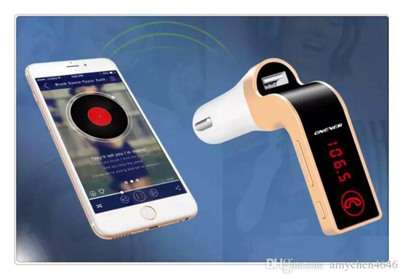 حر اليدين بلوتوث اللاسلكية وزير الخارجية الارسال G7 + AUX المغير سيارة كيت مشغل MP3 SD USB LCD اكسسوارات السيارات