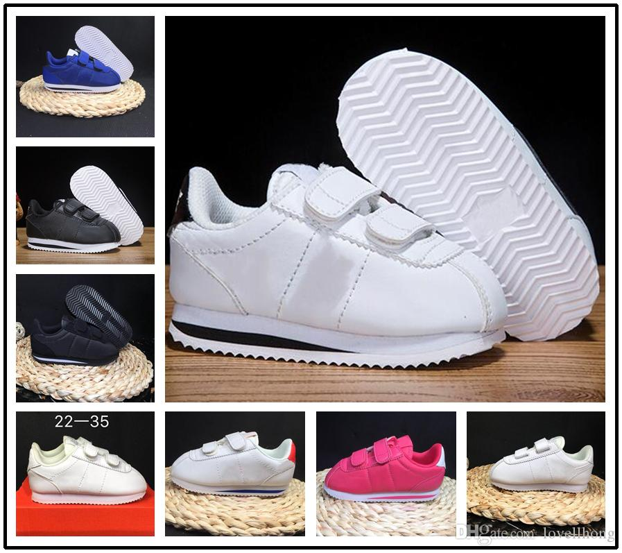 f934c7957885 Acheter Nike Cortez 2018 Chaussures Enfants Printemps Sport Running Filles Baskets  Enfants Respirant Garçons Chaussures Taille De Chaussure Européenne 22 35  ...