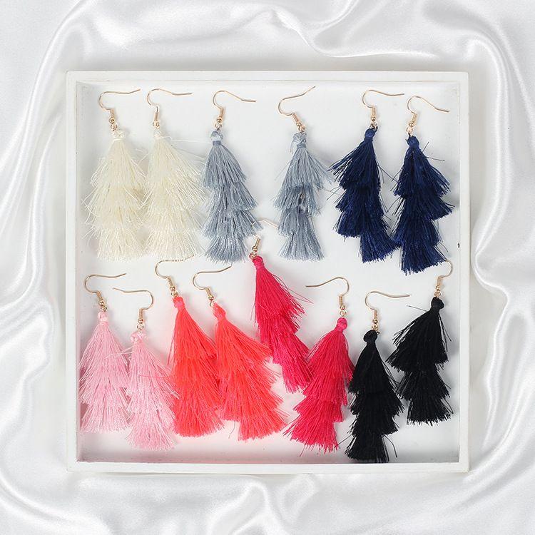 7 couleurs nouvelles boucles d'oreilles gland mode femmes déclaration pom pom boucles d'oreilles pour femmes crisana hoop boucles d'oreilles