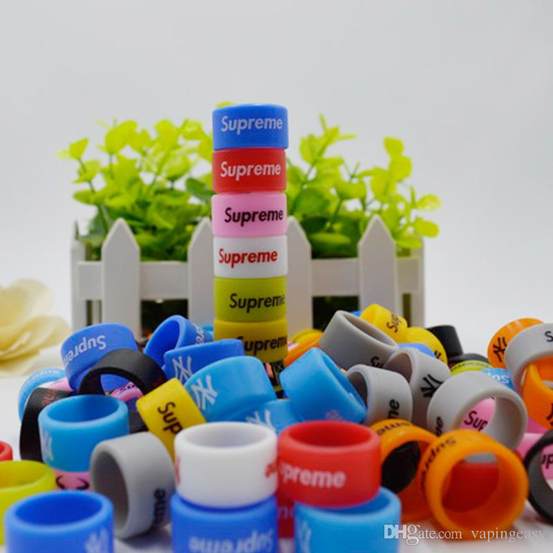 Colorful Custom silicone vape band beauty rubber ring Personalized silicone bracelet Welcome OEM Print your name logo text for ecig tank