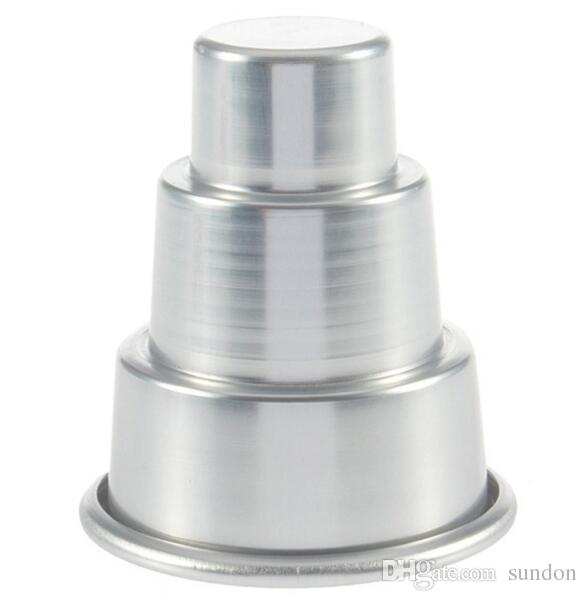Mini 3 Tier Cake Pan Tins Cupcake Pudding Pizza Mould Cake Trays Party Home birthday DIY pudding Tools 30*60*80MM