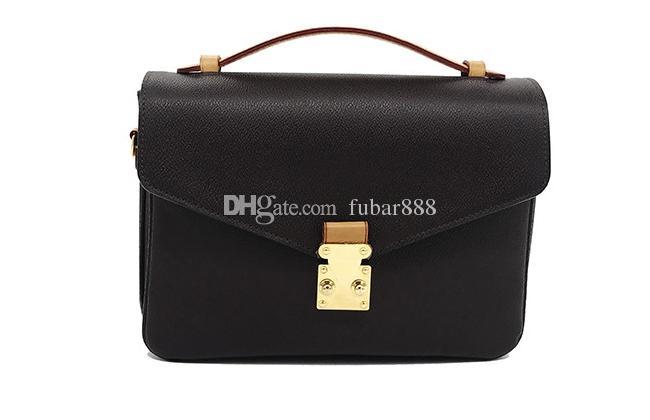 Frete grátis! Moda bolsa de couro genuíno das mulheres Sacos de ombro Metis M40780