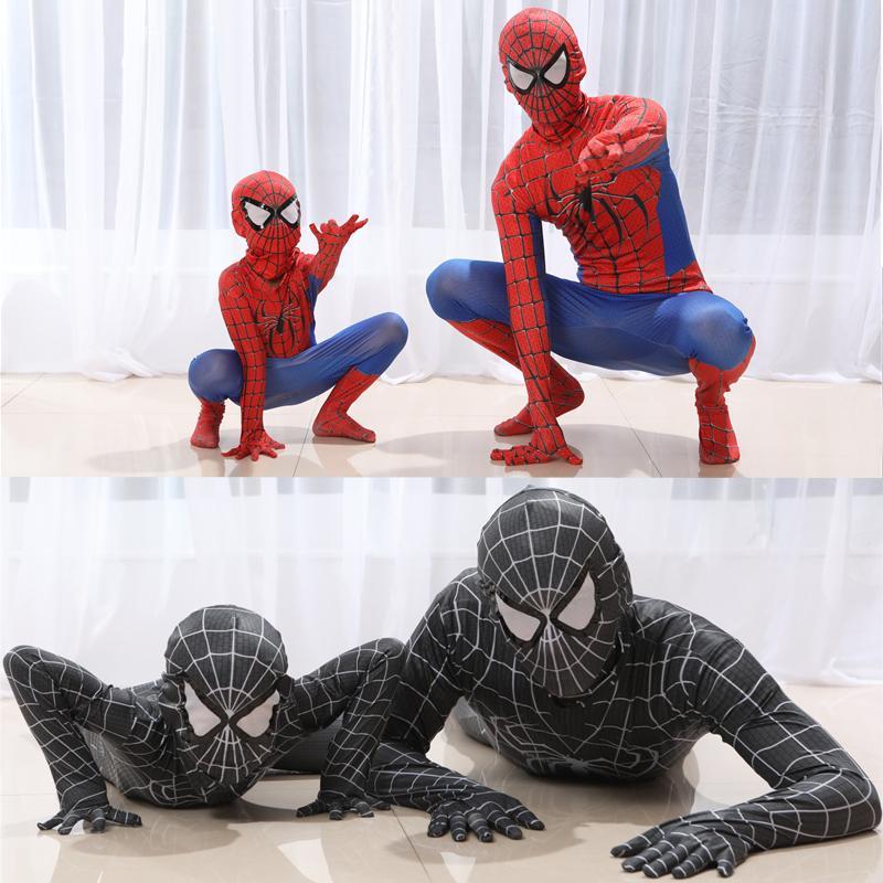 New Kids azul escuro spiderman traje homem aranha terno homem-aranha trajes crianças crianças homem-aranha Cosplay