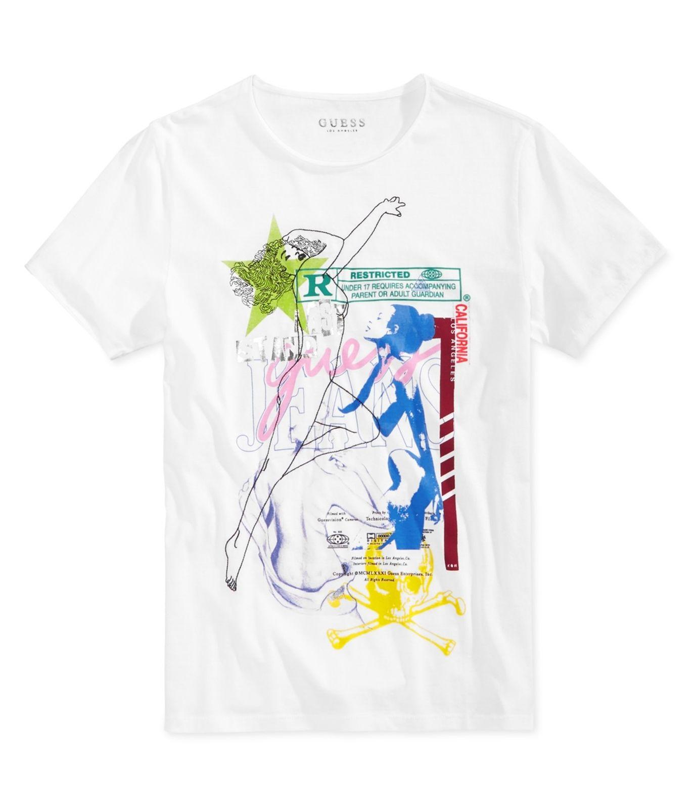 eb69e158e7b6 GUESS Mens Collage Graphic T Shirt Truewhite 2XL Latest T Shirt Designs  Coolest Shirts From Biyue5, $11.78| DHgate.Com