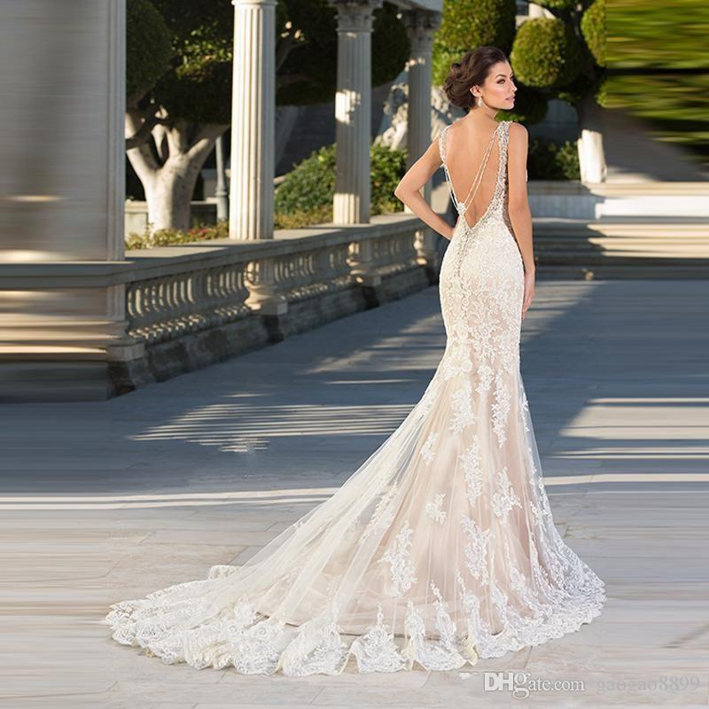 Zuhair Murad Dresses 2019 Wedding Dresses Bridal Gowns Mermaid Lace Appliques Sweetheart Backless Sexy Beaded Gothic Trumpet Dress