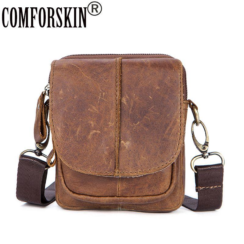 a517042b34 COMFROSKIN Bolsa Masculina Guaranteed 100% Genuine Leather Men Messenger  Bag New Arrivals 2018 Hot Vintage Style Man Bag Designer Handbags On Sale  Purses On ...