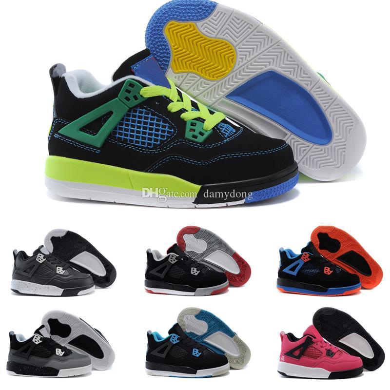 cheap for discount 0dc5a bce73 Großhandel Nike Air Jordan 4 13 Retro Jungen Mädchen 12 12s Gym Rot Hyper  Violett Lila Kinder Basketballschuhe Kinder Rosa Weiß Blau Dunkelgrau  Kleinkinder ...