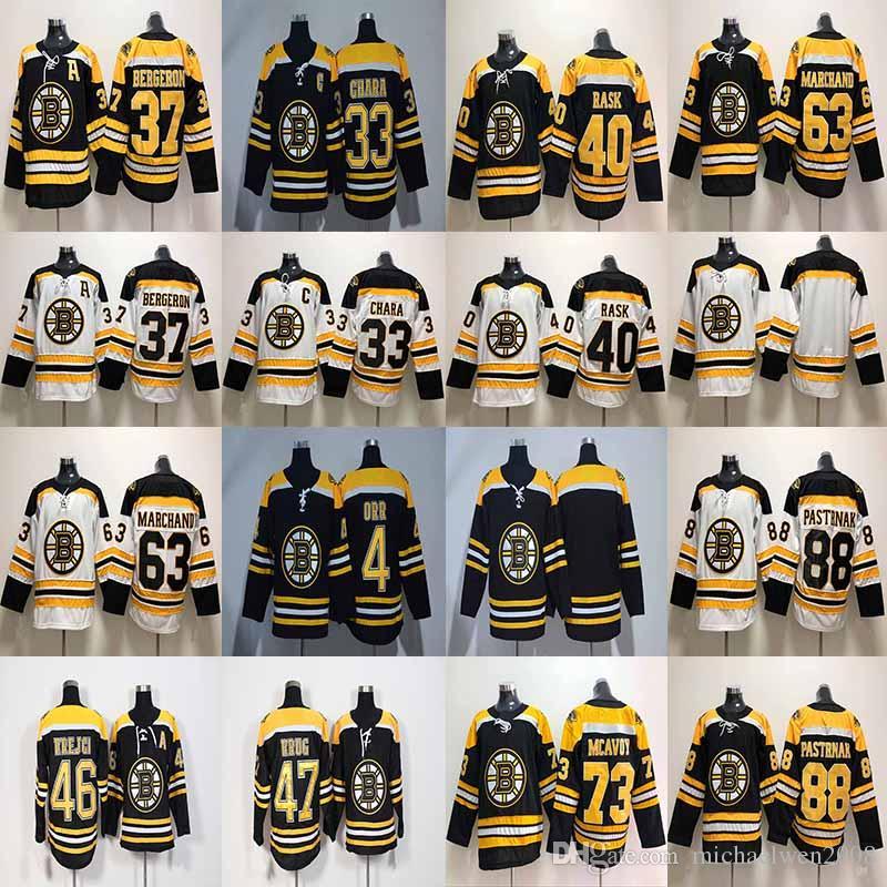 huge selection of 73512 bc0e5 47 Torey Krug Jersey 2017-2018 Boston Bruins 46 David Krejci 63 Brad  Marchand 88 David Pastrnak 4 Bobby Orr Hockey Jerseys Cheap