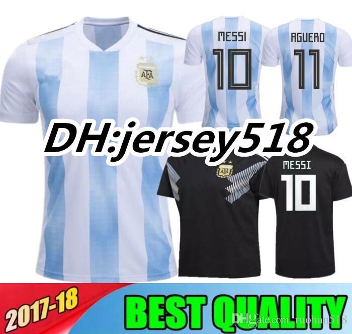 Argentina 2018 Camiseta De Fútbol De Calidad Tailandesa Argentina En Casa  Jerseys Camiseta De Fútbol Dybala Camiseta De Fútbol Messi Aguero Di Maria  ... e7f06cdd349d6