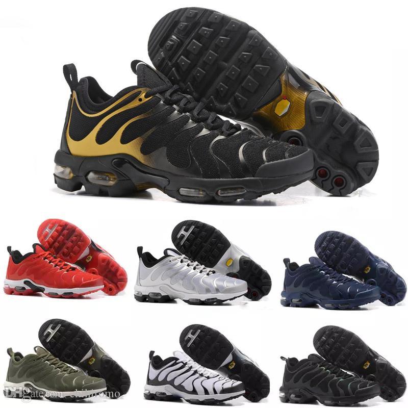 size 40 4f285 68683 Acquista Nike Air Max TN Plus Vapormax Airmax 2017 New Air TN Plus Ultra  Uomo Alta Qualità Scarpe Da Corsa Atletica Tns Classico Durevole Tutto Nero  Mens ...