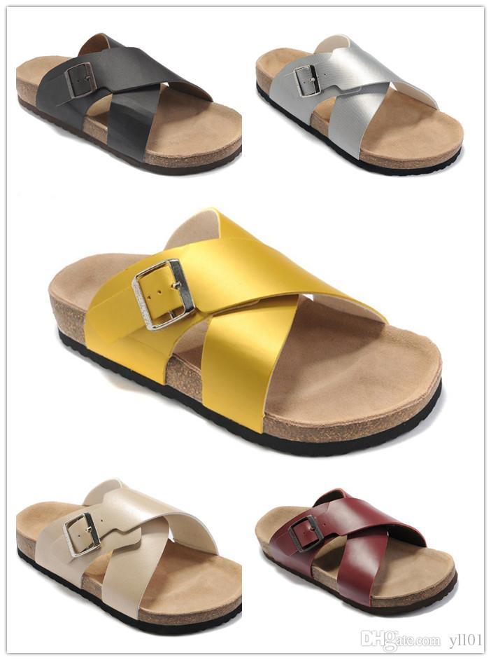 4b970cf1e2f Hot Sale Men Women Unisex Cork Flip Flops Beach Sandles Summer Sports  Fashion Shoes Leather Slippers Cool Slipper Casual Sandal 35 46 Work Boots  Wide Calf ...