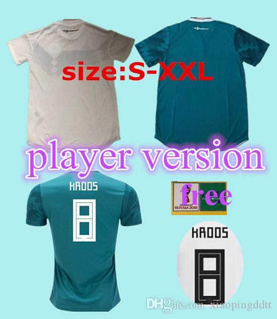 95ce21b92 2018 Player Version Germany Kroos World Cup 2019 Soccer Jerseys 18 19  Germany Fans Model DRAXLER OZIL REUS GOTZE WERNER Football Shirts UK 2019  From ...