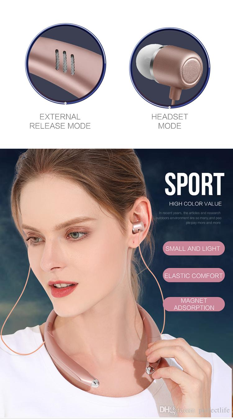 V8 Wireless Bluetooth Headset Stereo bluetooth earphone headphone Lound speaker Outside Music Player For iphone X Samsung S9 LG Cellphone