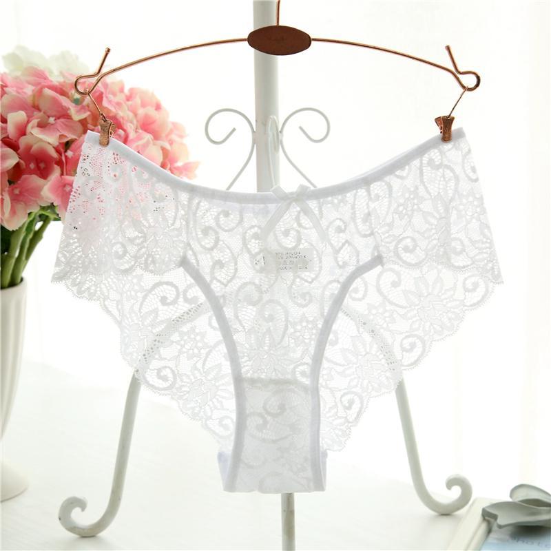Ixuejie Plus Size S/X High Quality Women's Panties Sexy Transparent Underwear Women Lace Soft Briefs Sexy Lingerie