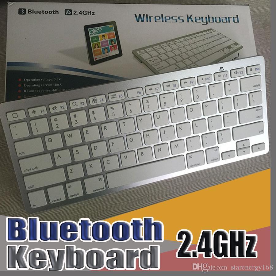 4ff3749b672 E Новая 2018 новейшая ультратонкая беспроводная клавиатура Bluetooth 3.0  для Android для MAC iPad IOS Apple Windows для операционной системы