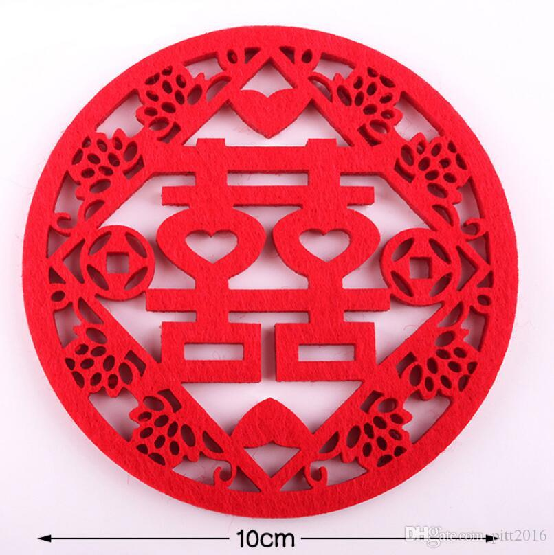 107f401ae 2019 Traditional Chinese Style Red Double Happiness Coasters Non Woven  Fabric Home Wedding Table Decoration LX2211 From Pitt2016, $0.44    DHgate.Com