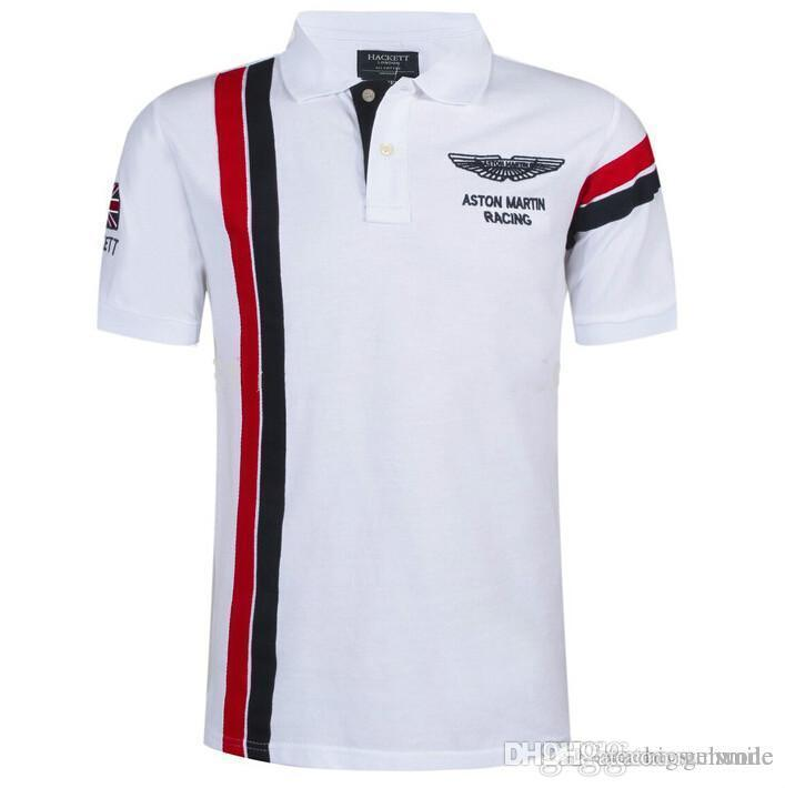 d97ba3b1ebf 2019 Summer Hot In Spain Fashion Sport Polo Shirt Men ASTON MARTIN RACING  100% Cotton Polos Shirts Free Shiping From Geiwode