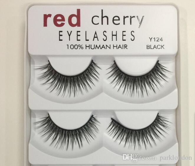 2018 الكرز الأحمر الرموش الصناعية 5 أزواج / حزمة 8 أنماط ماكياج الطبيعية لفترة طويلة الفنية عيون كبيرة ذات جودة عالية