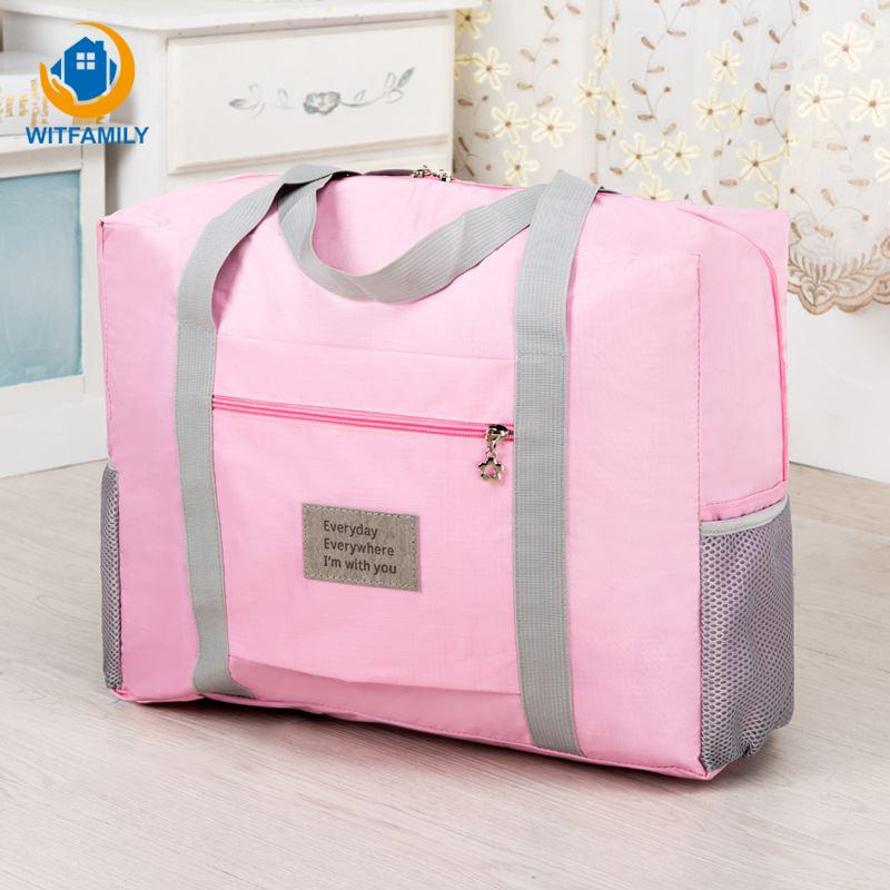 b16657229f31 2019 Duffle Bag Men Women Storage Bags Oxford Cloth Waterproof Clothes  Shoes Socks Organizer Supplies Portable Travel Luggage Package From Wudee
