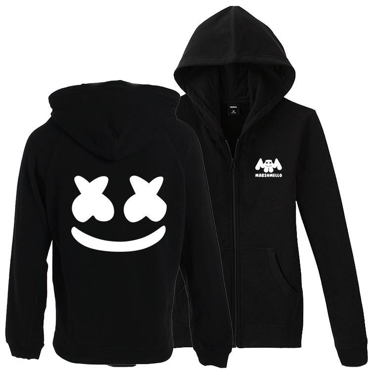 3e4a79e31c218 2019 XS To 3XL Plus Size DJ Marshmello Men Hoodies Sweatshirt Women Zipper  Hip Hop Hooded Jacket Coat Tracksuits From Xinpiao, $31.98 | DHgate.Com