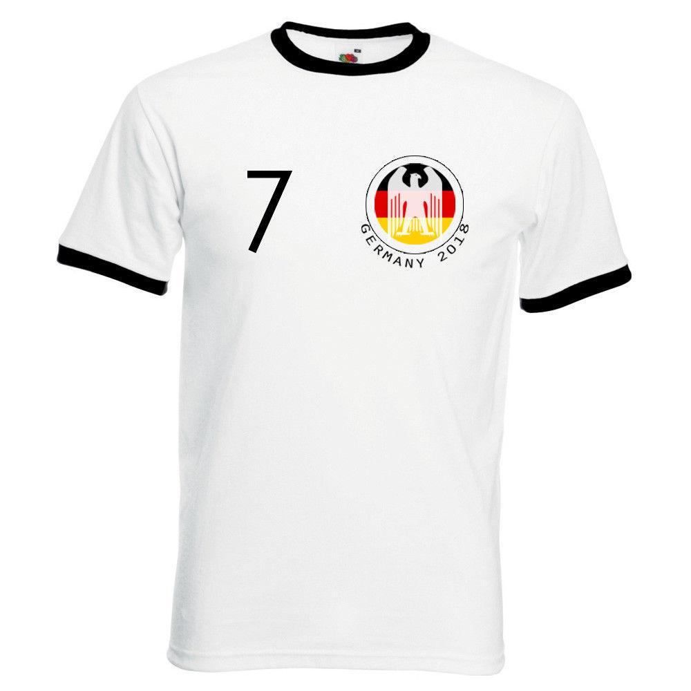 Tee Shirt Designing Adults Personalised Germany Ringer T Shirt