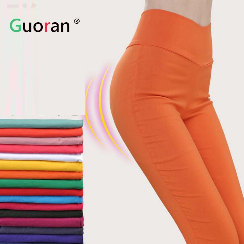 6deaab5d0c9 Best  guoran  Women High Stretch Leggings Plus Size High Waist Female  Skinny Pencil Pants Candy Color 2016 Summer Lu Leggings Ladies Under  35.18