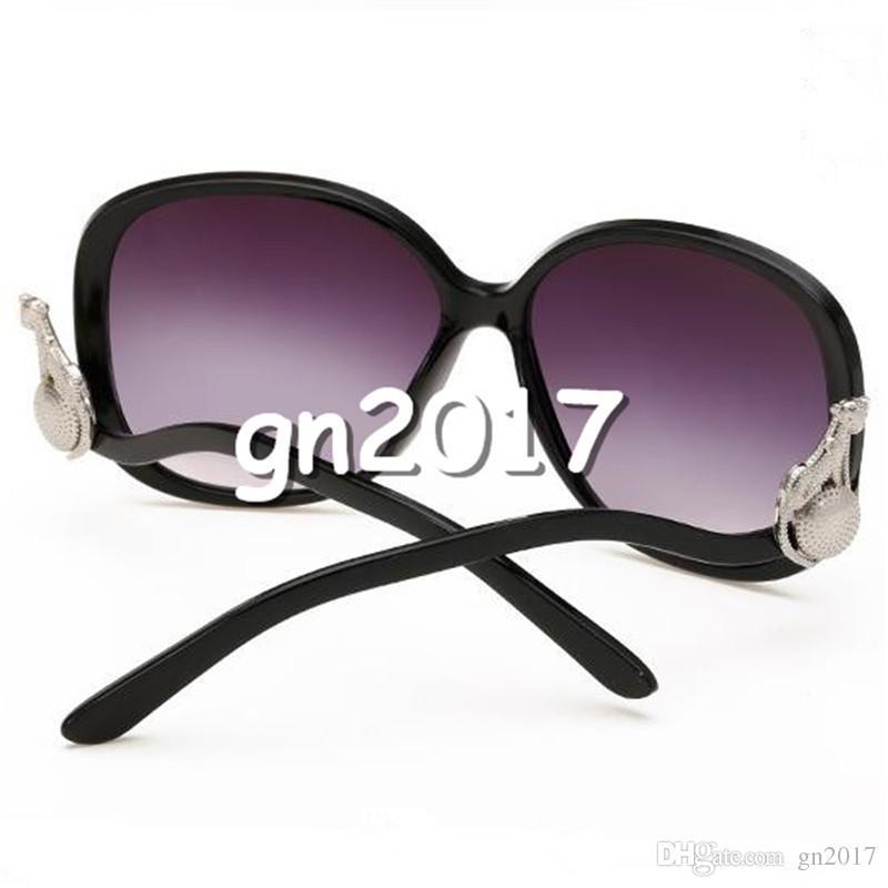 Moda Kadın Erkek Güneş Gözlüğü Büyük Çerçeve Güneş Gözlükleri Sahte Leopar Gözlük Anti-UV Gözlükler