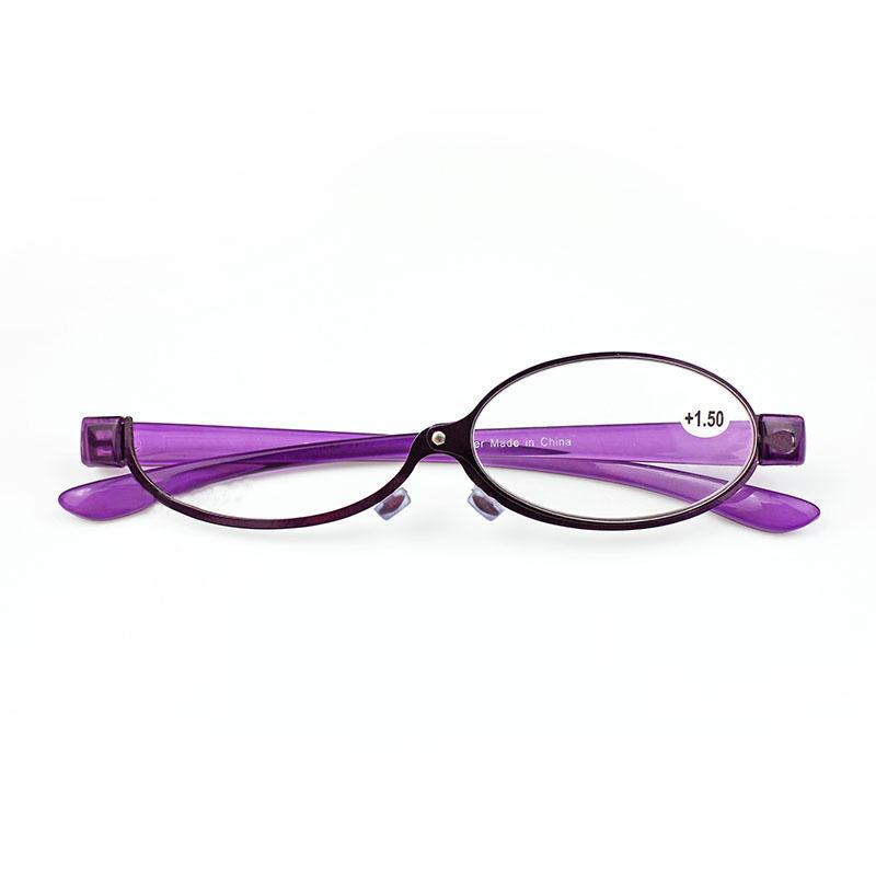 ec475265d7d Fashion Makeup Reading Glasses Women Lady Make Up Eyeglasses Magnifying  Eyewear Purple Metal Frame Magnifier Eye Reader +1.0~+4.0 Tough Reading  Glasses ...