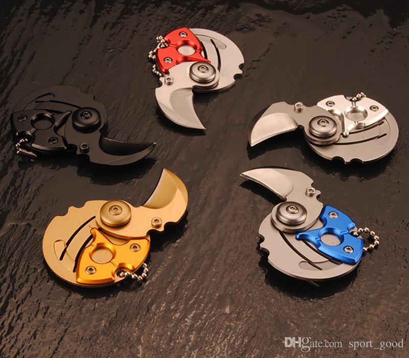 Mini Klappmünzenmesser EDC Easy Carry Tool Kleines Taschenmesser Schlüsselanhänger mit Hängenden Schlüsselanhänger Geschenk Überleben Outdoor Werkzeuge