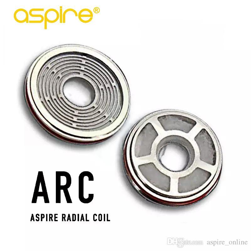 100% originale Aspire Revvo Tank ARC Aspire Radial Coil Sostituzione testa bobina Skystar / Typhon Kit 0.1 ~ 0.16ohm Nuovo design