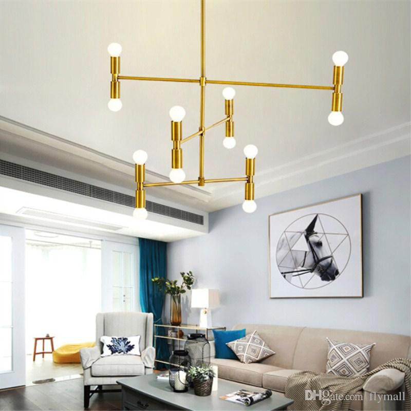 Modern Pendant Lighting Led Ceiling Chandelier Lights Living Room  Restaurant Branches Hanging Lamp With 12 Lights Fixture Flush Mount Bronze  Pendant ...