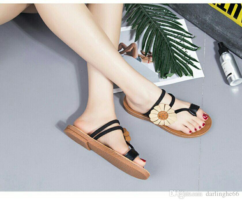 73385993fc4a Spring And Summer New Style out Slippers Women s Plain Flat Bottom ...