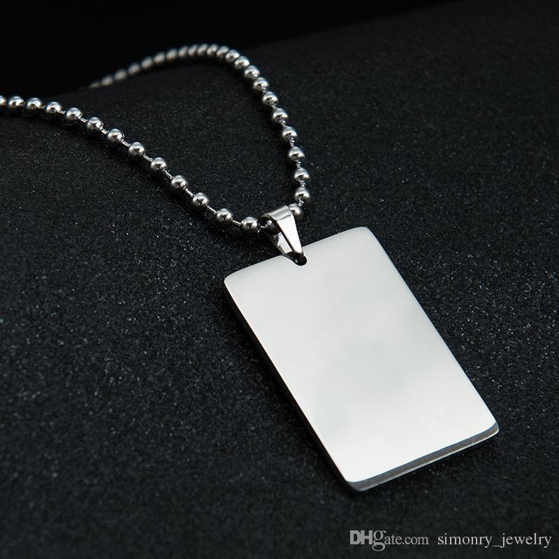 nuovo concetto abb28 59361 Etichetta del cane militare della collana del pendente incisa su misura  dell acciaio inossidabile personalizzata con tutto il commercio all  ingrosso ...
