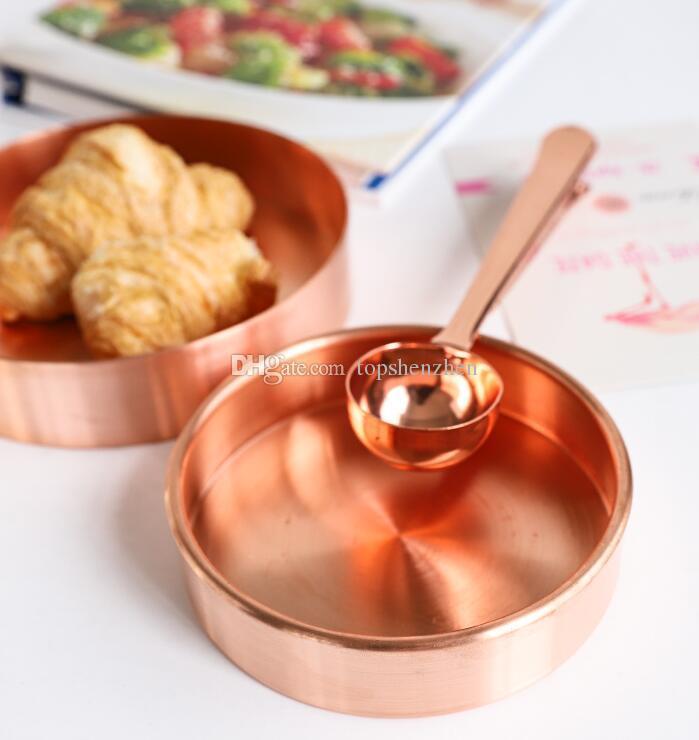 Noticias Estilo nórdico estilo metal cobre cobre puro latón redondo almacenamiento ovalado / bandeja de té oro Producto popular decoración orname