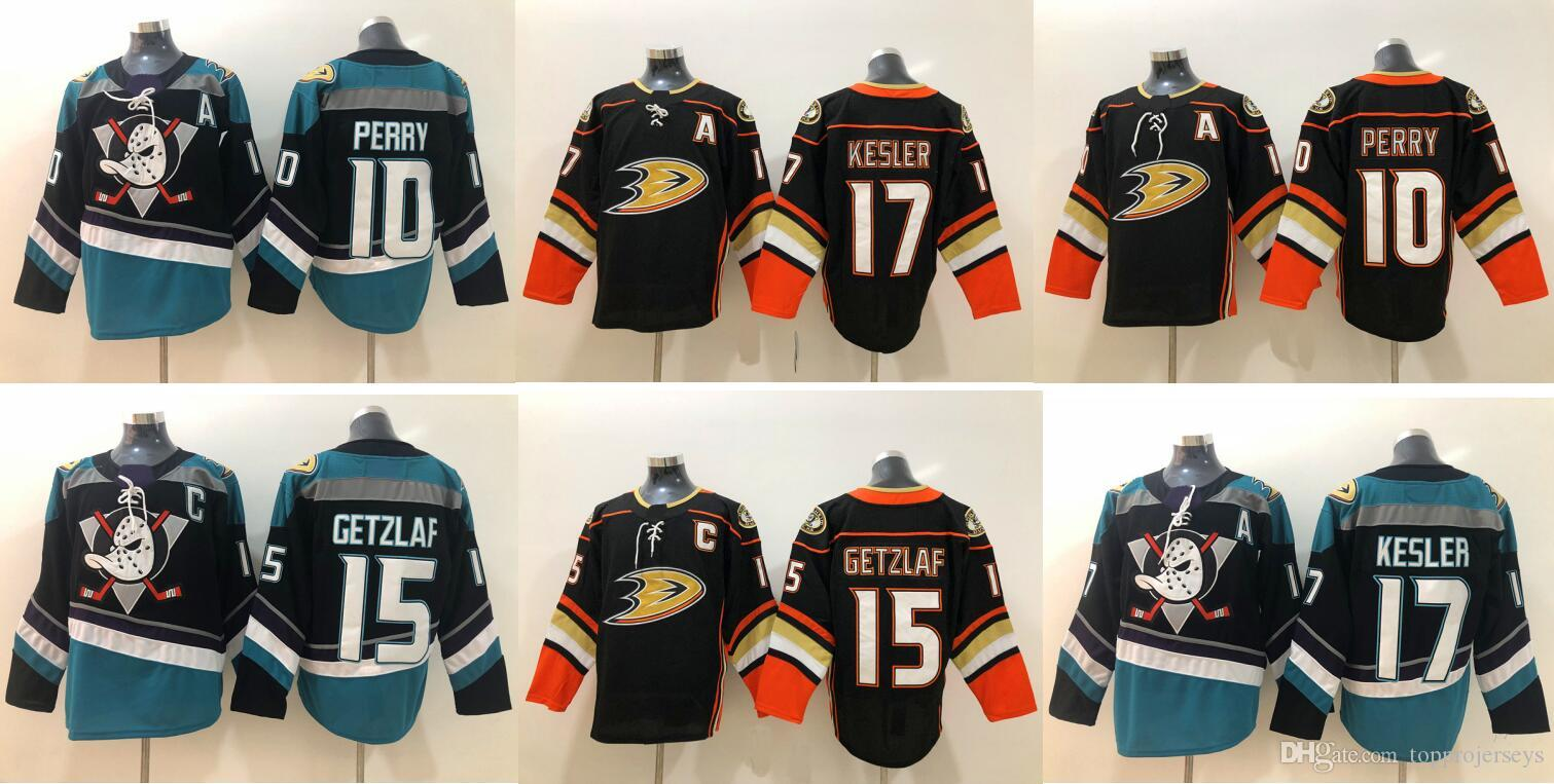 Anaheim Ducks #15 Ryan Getzlaf 10 Corey Perry 17 Ryan Kesler Vintage Mens Ice Hockey Uniforms Shirts Sports Team Jerseys Stitched Embroidery