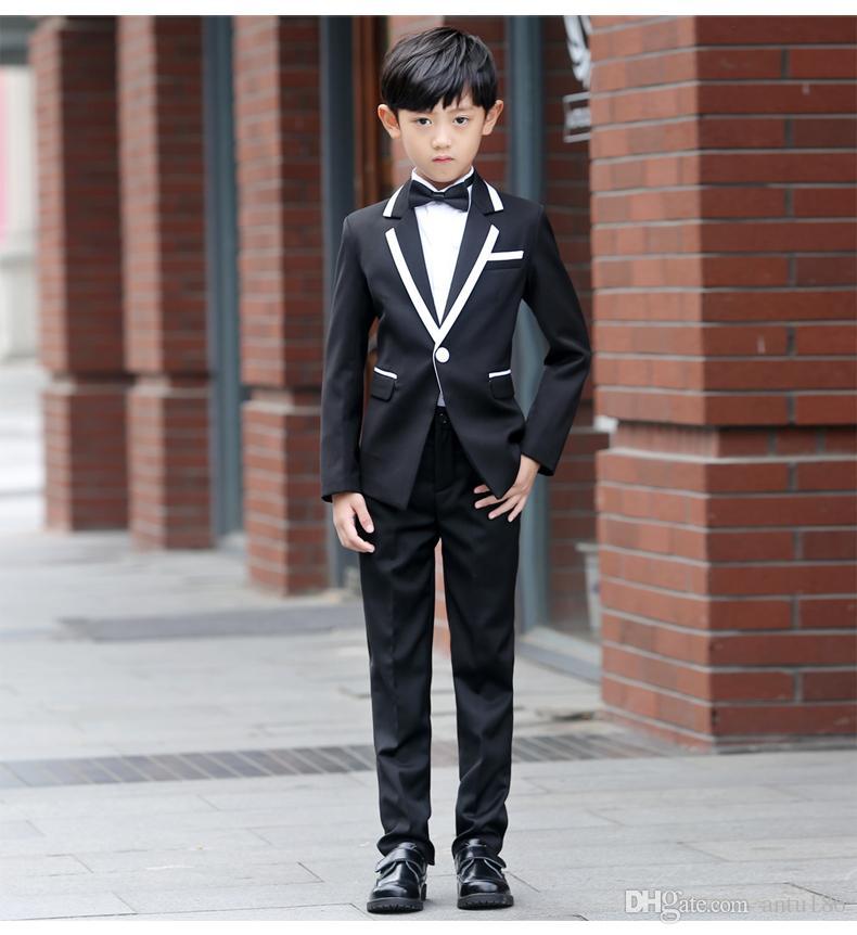 0fedcf401ae New Fashion White Balck Boys Baby Suit Children Blazers Boy Suit For Formal  Weddings Prom Dress Wedding Dress Spring Autumn Boy Suits Cheap Formal Wear  For ...