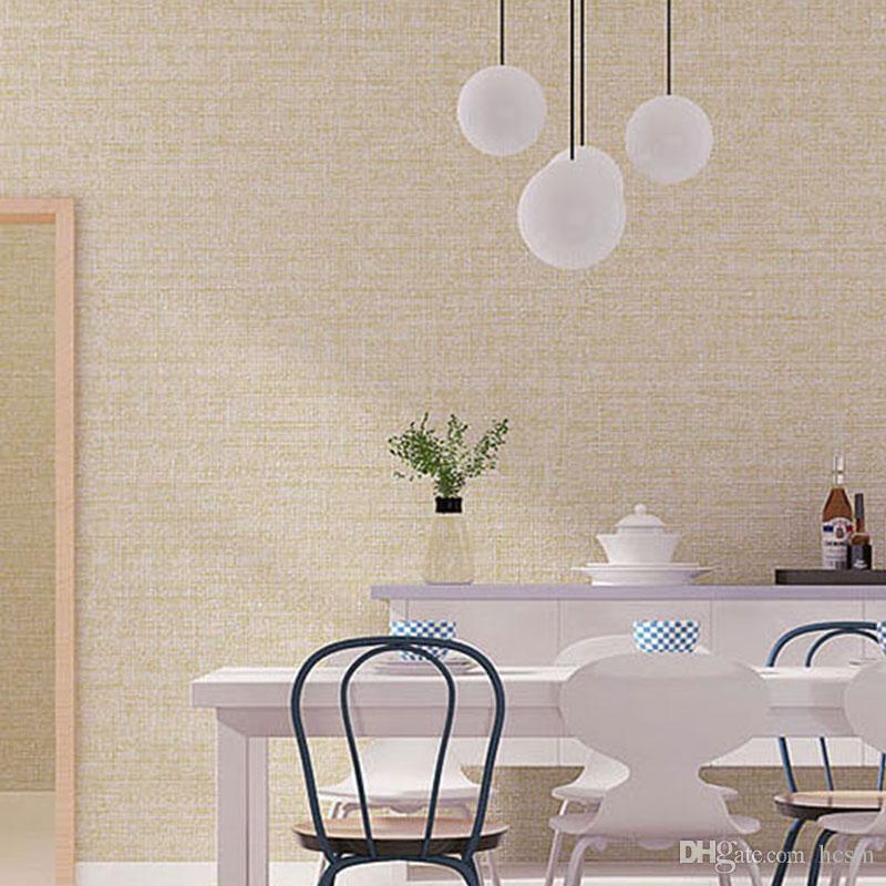 Solid Color Simple Wallpaper Living Room Bedroom