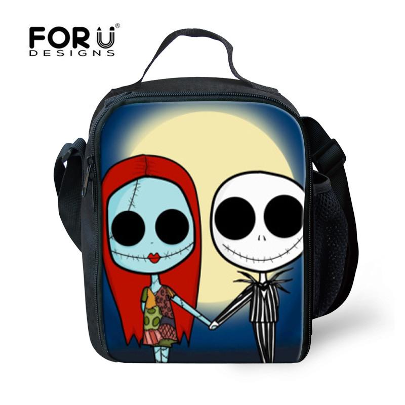 2c0f4c40a 2019 FORUDESIGNS Cute Skeleton Thermal Insulated 3d Print Picnic Bag For  Women Kids Halloween Gift Lancheira Termica Marmitas Travel From Booket, ...