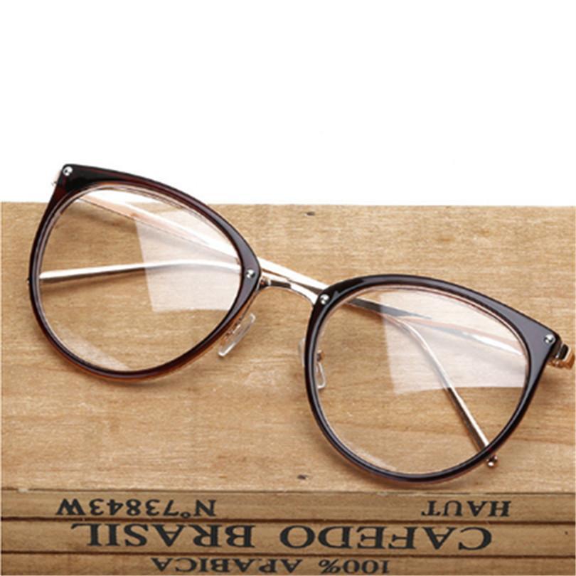 Compre Retro Óculos De Armação De Metal Oversized Limpar Lens Óculos Homens  Mulheres Transparente Optical Cat Eye Óculos Frames Espetáculo De Haydene,  ... f691b3b804