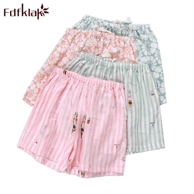 e5d7b3b6dcc 2019 Fdfklak Womens Bottoms Pajamas Pants 2018 Summer New Print Cotton Sleep  Pants Womens Sleep Shorts Pink Trouser To Q894 From Sincha, $24.75 |  DHgate.Com