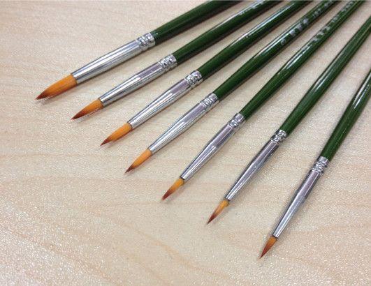 Boyama Malzemeleri Tek satır kalemler uzun çubuk naylon yün akrilik su boya fırçası boya çizim hattı