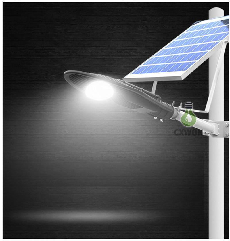 solar led street light 20W 30W 60W all in one 130lm/w outdoor led solar street light with Remote Control