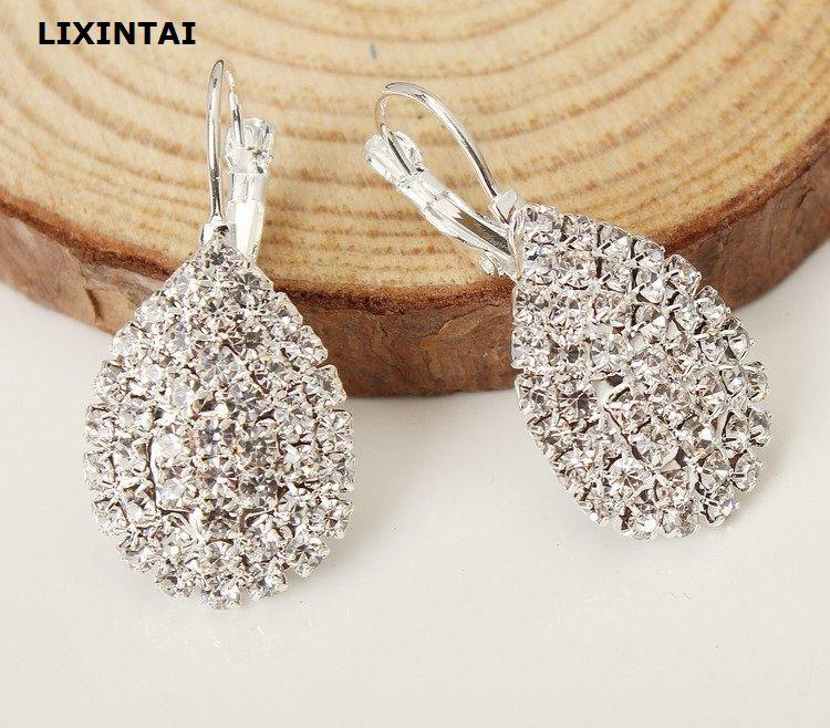 5e66e68c7 2019 LIXINTAI Brand Fine Jewelry Earrings Made With Swarovski Crystal Women  Jewelry Inlaid White Austria Crystal Glittering Fashion Ear Studs From  Liruoyu, ...