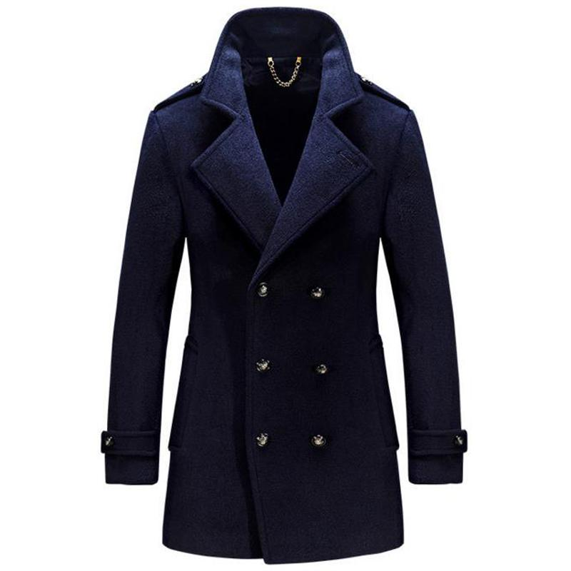 eb06f4b8335 2019 High Quality Plus Size 4XL Men Peacoat Jacket Winter Style Wool Coat  Mens Online Imported Thick Windbreaker Man Overcoats B023 From Begonier