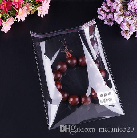 Pronto estoque de cristal claro plástico opp auto adesivo com resealable cola fita para celular casos roupas muitos tamanhos disponíveis