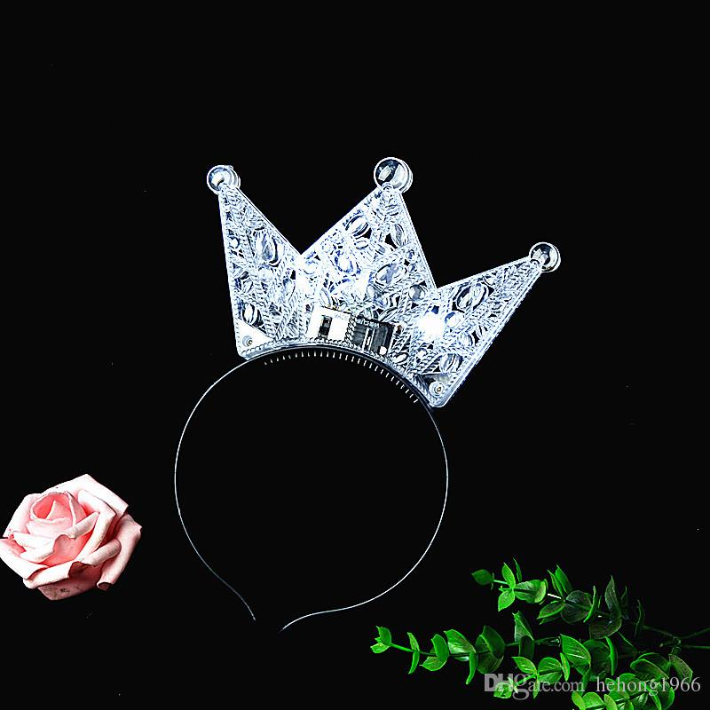 Crown Design Creative LED Kids Hair Hook Multi Color Plastic Cute Headdress Fashion Unique Style Head Band For Party Decor 2 19by Z